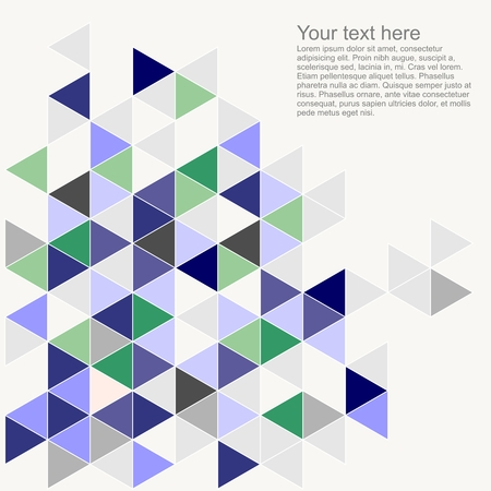grey backgrounds: Pastel colorful vector background with empty space. Grey, navy, blue, mint green and violet triangle geometric mosaic card document template. Hipster flat surface design aztec chevron zigzag print