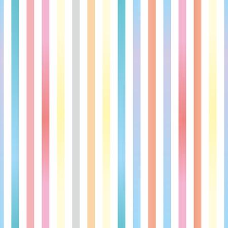 Naadloze vector pastel strepen achtergrond of patroon illustratie. Desktop wallpaper met kleurrijke geel, rood, roze, groen, blauw, oranje en violet strepen voor kinderen website achtergrond