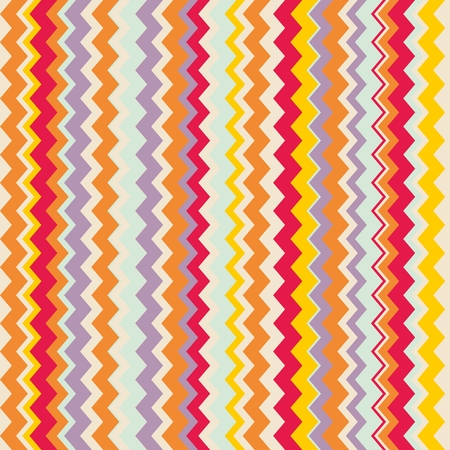 Chevron seamless colorful vector pattern or tile background with zig zag red, purple, yellow, pink and orange stripes. Thanksgiving background, desktop wallpaper or website design element Vector