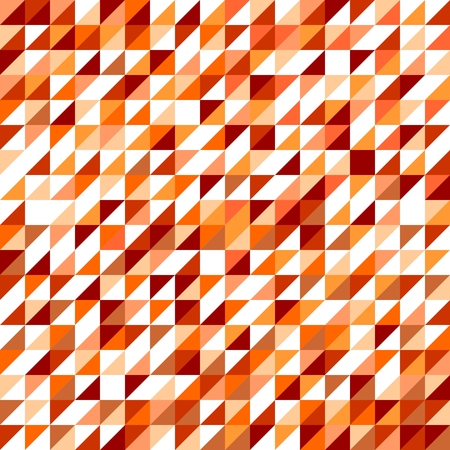 Tile vector pattern with white, red, brown, yellow and orange triangle mosaic background Vector