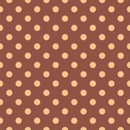 beige backgrounds: Seamless vector pattern with polka dots on a dark brown background. For cards, invitations, wedding or baby shower albums, backgrounds, arts and scrapbooks. Illustration