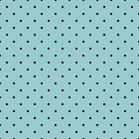 tint: Tile vector pattern with black polka dots on mint green or blue background for decoration wallpaper