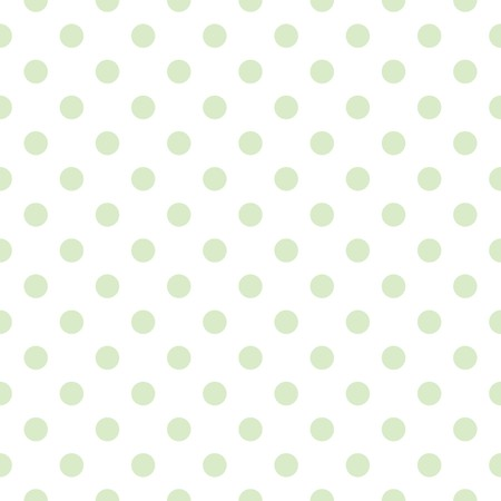 Tile cute vector pattern with mint green polka dots on white background Vector