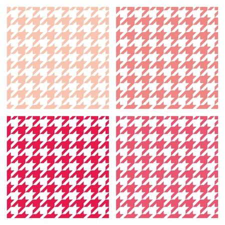 desktop wallpaper: Establece Houndstooth modelo pastel incons�til del vector. Tradicional colecci�n tela a cuadros escoceses de colorido fondo de p�gina web o fondo de escritorio de color blanco, rosa, rojo y melocot�n.