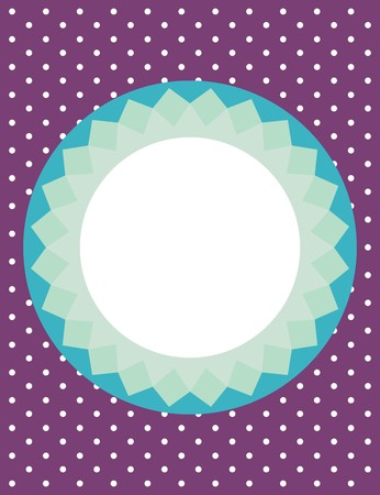 Card or vector invitation with polka dots Vector