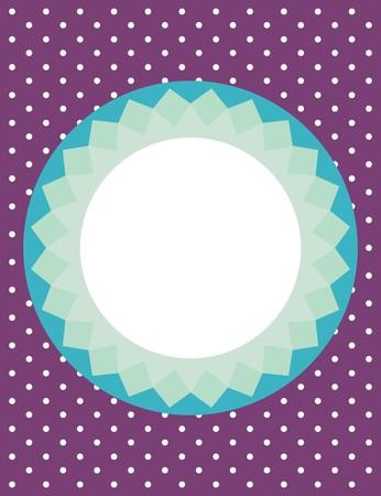 cute border: Card or vector invitation with polka dots Illustration