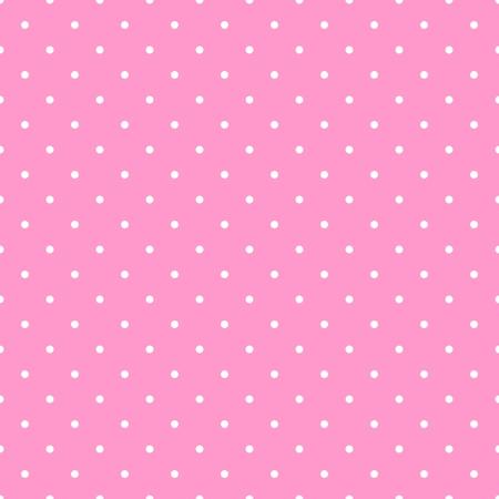 Wektor bez szwu wzór z białymi kropki na pastelowym różowym tle płytek