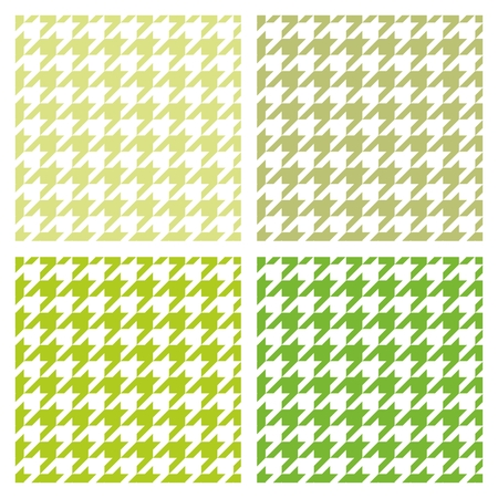 Pastel vector houndstooth spring seamless fresh green and white pattern set. Traditional Scottish plaid fabric collection for baby website background, kids or desktop wallpaper.