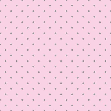 Seamless pink vector pattern with dark grey polka dots on a pastel pink background. For desktop wallpaper, kids website design background, wedding or baby shower albums, backgrounds, arts and scrapbooks. Illustration
