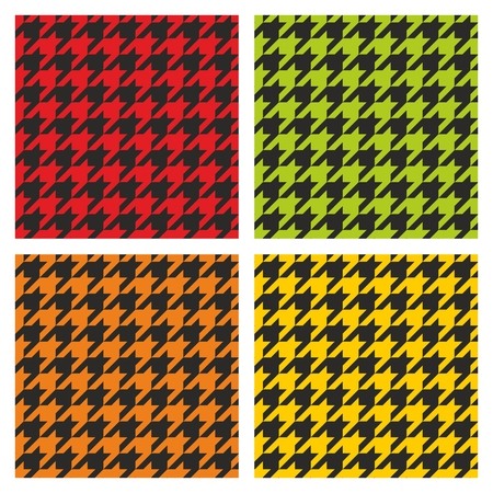 desktop wallpaper: Tartan black, green, yellow and orange vector tile background collection. Dogtooth seamless pattern set for website design, desktop wallpaper or houndstooth tweed clothing