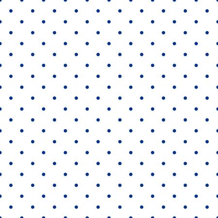 azul marino: Modelo inconsútil del vector con pequeño azulejo marinero de la marina lunares azules sobre fondo blanco