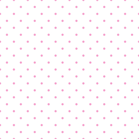 Seamless vector pattern with pastel pink polka dots on white background for decoration wallpaper