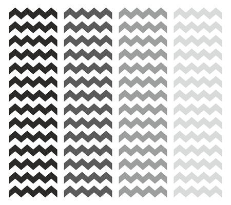 Tile chevron vector pattern set with grey and black zig zag on white background Vector
