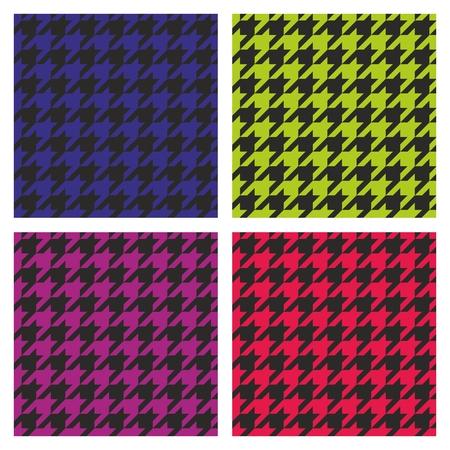 desktop wallpaper: Vector sin fisuras de pata de gallo en colores pastel rosa oscuro, azul, verde, violeta y negro patr�n establecido. Tradicional colecci�n tela a cuadros escoceses para el sitio web beb� blanco, ni�os o fondo de escritorio.