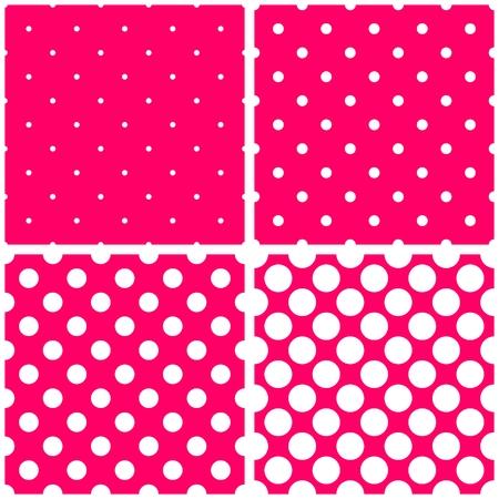 desktop wallpaper: Lunares blancos en rosa conjunto de vectores de fondo. Dulce colecci�n patr�n de mosaico tela retro con puntos para el sitio web ni�os dise�o de fondo o fondo de escritorio