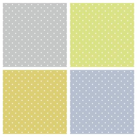 desktop wallpaper: Modelo incons�til del vector de la primavera de conjunto con coloridos lunares blancos sobre fondo azul, gris y verde para fondo de escritorio y dise�o de sitios web