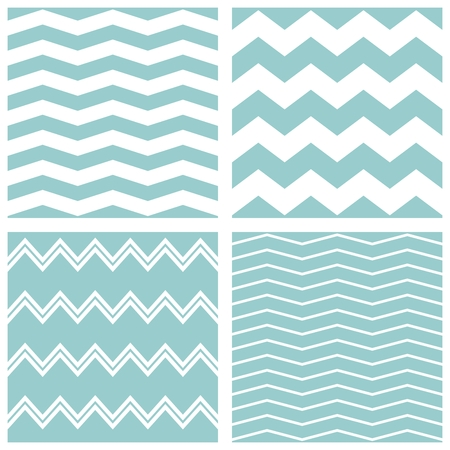 zag: Tile vector chevron pattern set with sailor blue and white zig zag background Illustration