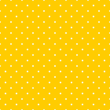 dot: Tile decoration vector pattern with small white polka dots on yellow background Illustration