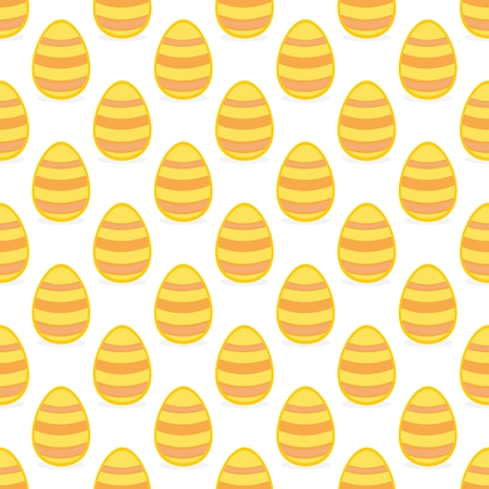 pasch: Tile vector pattern with yellow easter eggs on white background for decoration wallpaper