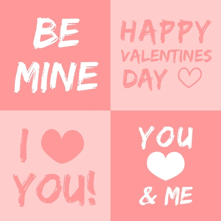 Valentines day vector illustration and typography elements Vector