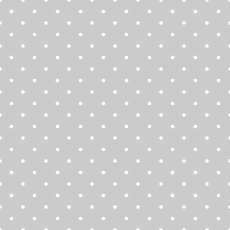 preppy: Seamless vector white and grey pattern or tile background with polka dots
