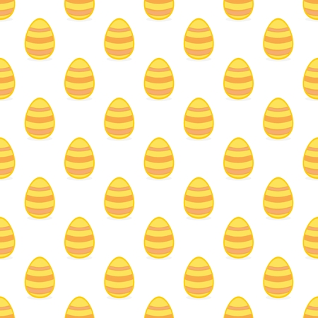 Tile vector pattern with easter eggs on white background for decoration wallpaper Vector