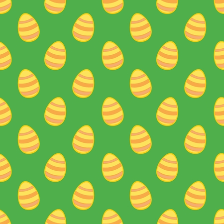 pasch: Tile vector pattern with easter eggs on green background for decoration wallpaper