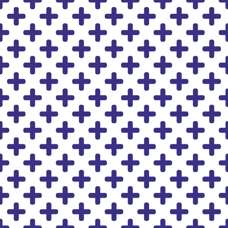 blue carpet: Tile blue and white vector pattern Illustration