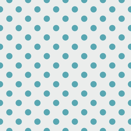 repetition dotted row: Tile vector pattern with blue polka dots on grey background