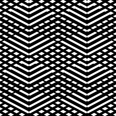 Tile black and white vector pattern or nordic background Vector