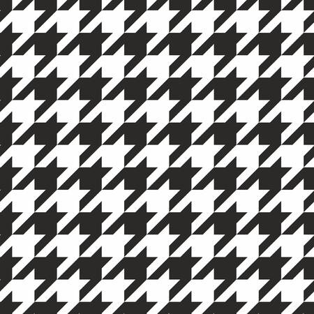 Płytka Houndstooth czarno-biały wzór lub tło wektor Ilustracja