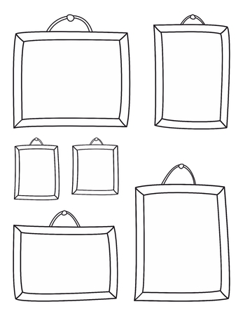 whimsy: Hand drawn decorative frames isolated on white background