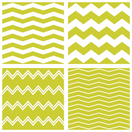 zag: Spring tile pattern with white and green zig zag print background