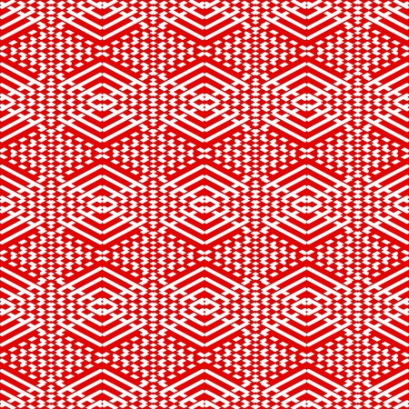 Red and white tile pattern vector background or wallpaper Vector
