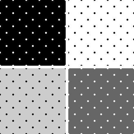 desktop wallpaper: Blanco y gris negro vector patr�n sin costuras o de fondo establecidos con lunares grandes y peque�os. Para fondo de escritorio y dise�o de sitios web.