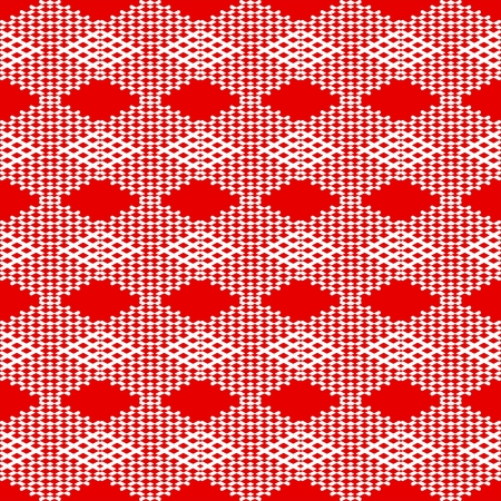 tile pattern: Red and white tile pattern vector background or wallpaper