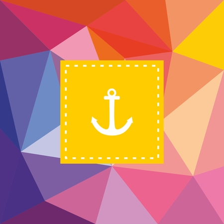 Nautical vector card or invitation with anchor on wrapping flat surface background Vector