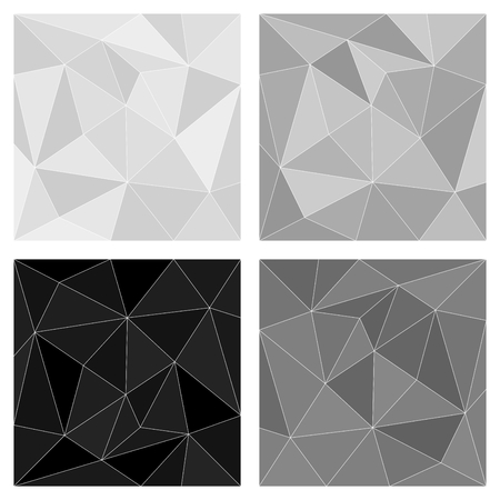 Gray white and black triangle vector background or chevron pattern set surface Vector