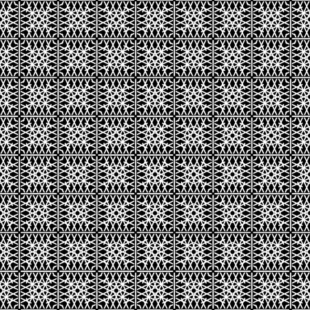 Tile black and white pattern or vector background Vector