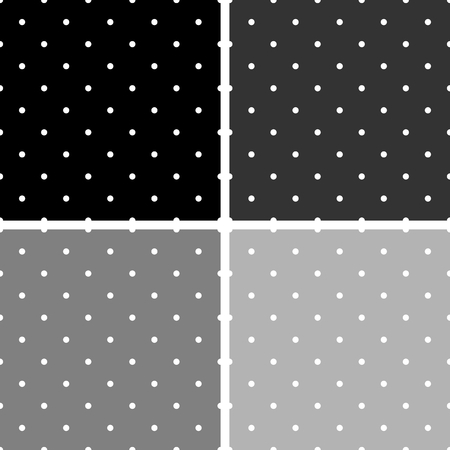 big and small: Seamless black, white and gray vector pattern or tile background set with big and small polka-dots Illustration