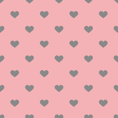 ditch: Tile pattern with gray hearts on pastel pink background