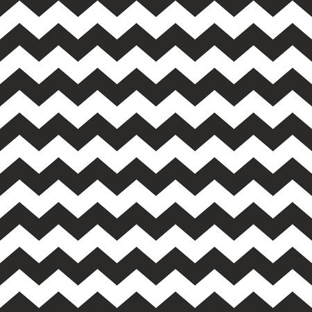 Tile vector chevron pattern with black zig zag on white background Illustration