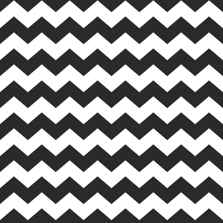 zig: Tile vector chevron pattern with black zig zag on white background Illustration