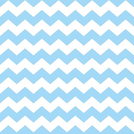 パステル カラーの青と白のジグザグ ジグザグ背景とシェブロン タイル ベクトル パターン
