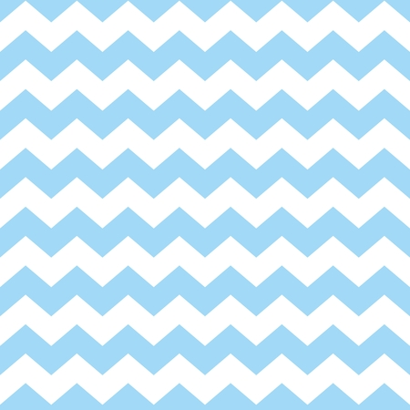 Chevron tile vector pattern with pastel blue and white zig zag background