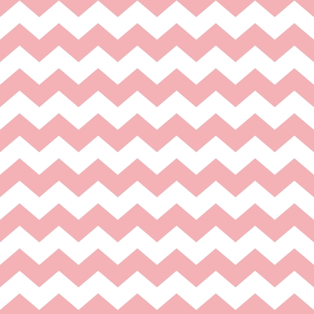 Tile pastel vector pattern with white and pink zig zag background