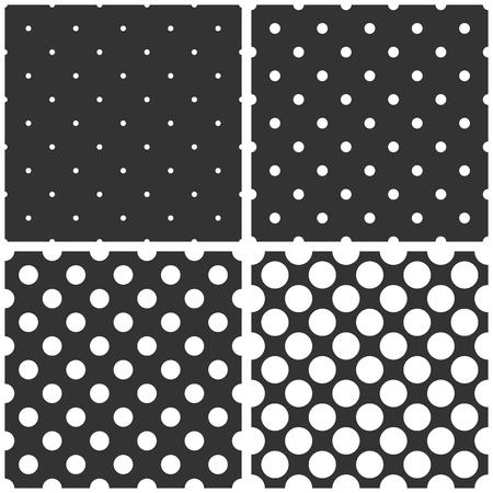 desktop wallpaper: Vector patr�n de negro, blanco y gris incons�til o fondo establecen con grandes y peque�os lunares. Para fondo de escritorio y dise�o de sitios web.