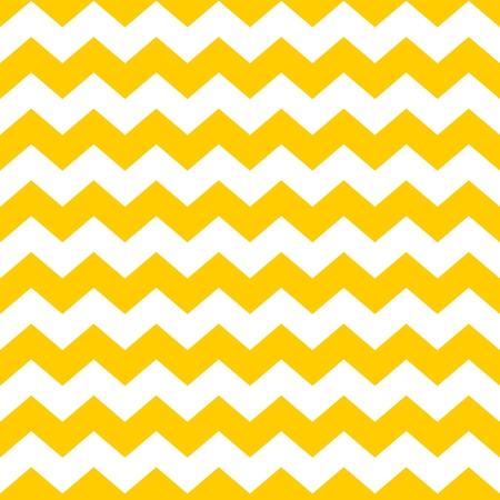 노란색과 흰색 지그의 지그재그 배경 타일 갈매기 벡터 패턴 일러스트
