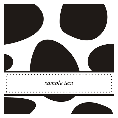 spot: Black and white pop art vector card or invitation. Cute background with white space to put your own text message. Cocktail party, birthday, baby shower or other occasion