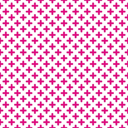 white tile: Pink and white tile mosaic vector pattern